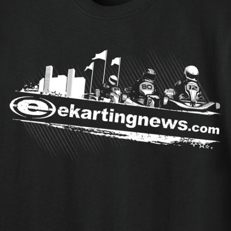 "Karting ""Skyline"" Long Sleeve Front Closeup"
