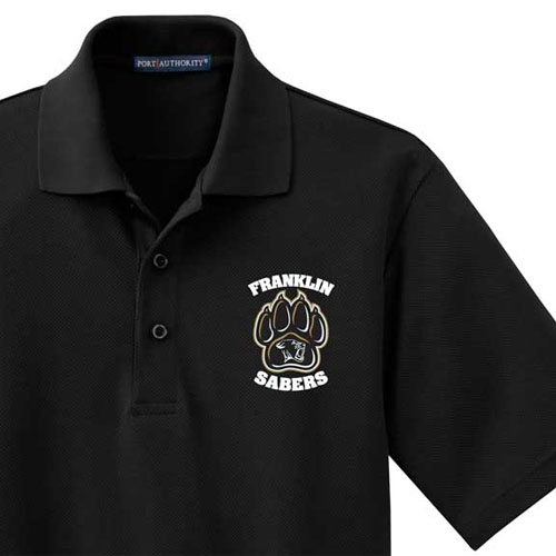 Men's Embroidered Sport Shirt (Discontinued) - Franklin Sabers